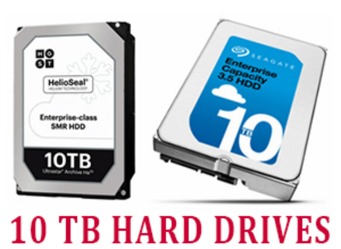 10TB Helium-Filled Hard Drives