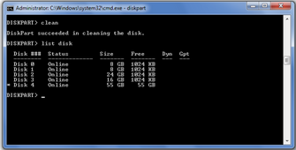 how to partition a hard drive through command prompt