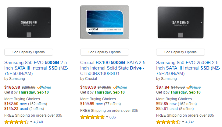 Hot PC Tips - SSD Pricing