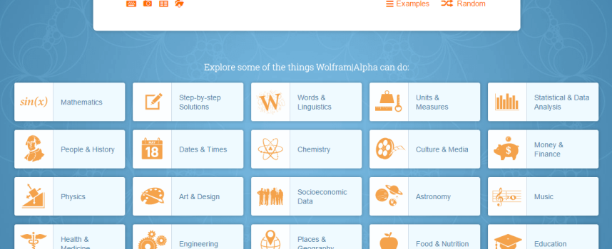 Life is Easier with Wolfram Alpha